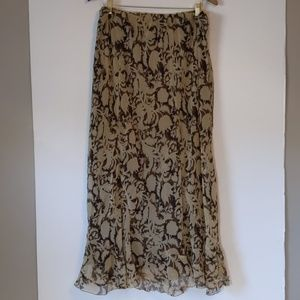 Cato woman brown W/ flowers maxi skirt 22/24W